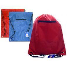 "144 Units of BAG BACKPACK 13X16.25""W/ZIPPER BLUE,RED,BLACK CLR - Bags Of All Types"