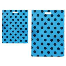 "300 Units of SH0PPING BAG POLKA DOT 14X20""BLUE CLR - Bags Of All Types"