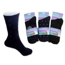 288 Units of SOCK DRESS 2 PAIRS 4ASSTBLACK,NARY CLR - Mens Dress Sock