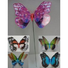 20 Units of Double Wing Butterfly Yard Stake - GARDEN DECOR