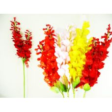 144 Units of DROOPY FLOWER 2STEMS 84CM LONG 5ASST CLR - Artificial Flowers