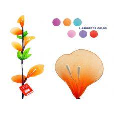 144 Units of FLOWER DECORATIVE 1.1M L 5ASST 3FLO, 3LEAVES - Artificial Flowers