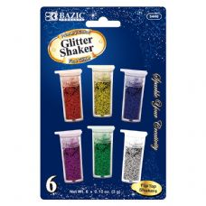 144 Units of 6 Primary Color Glitter Shaker - Craft Glue & Glitter