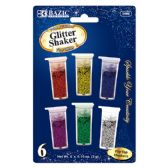24 Units of 6 Primary Color Glitter Shaker - Craft Glue & Glitter