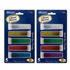 144 Units of 5 Primary Color Glitter Shaker - Craft Glue & Glitter