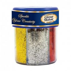 72 Units of 6 Primary Color Glitter Shaker w/ PDQ - Craft Glue & Glitter