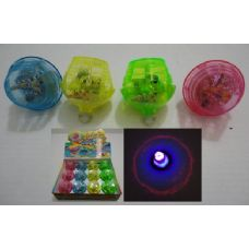 72 Units of Super Flashing Light-Up Top with Music - Light Up Toys