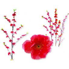 144 Units of FLOWER  CHERRY BLOSSOM 40PCS ASST - Artificial Flowers