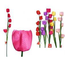 144 Units of TULIP 5HEADS 1.1M LONG 6ASST - Artificial Flowers