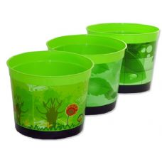 "72 Units of FLOWER POT 7.1""DIAX6.5"" HGREEN CLR - GARDEN PLANTERS/HANGERS/POTS"