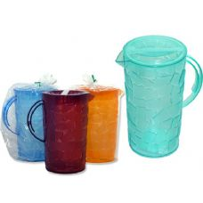 48 Units of Water Pitcher With Ice Cube Design - Plastic Drinkware