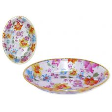 48 Units of oval printed tray - PLASTIC ITEMS
