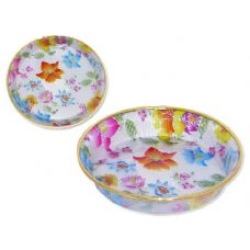 48 Units of round printed tray - PLASTIC ITEMS
