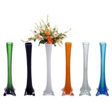 "48 Units of GLASS VASE 11.8"" 6ASST CLR - GARDEN PLANTERS/HANGERS/POTS"