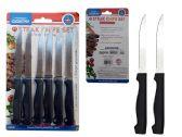 96 Units of STEAK KNIFE 6 PC BLACK HANDLE - Kitchen Knives