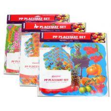 """72 Units of PLACEMAT FRUIT+FLO 4+411.5X11.5"""" - Placemats"""