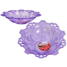 48 Units of crystal like round bowl purple - Plastic Dinnerware