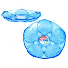 48 Units of crystal like round tray blue - Plastic Dinnerware