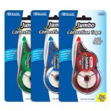 "60 Units of BAZIC 5 mm x 394"" Jumbo Correction Tape - Correction Items"