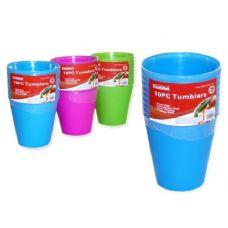 48 Units of 10 pc 8 oz tumbler cups - Plastic Drinkware