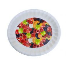 48 Units of deep round tray asst fruit design - Tray
