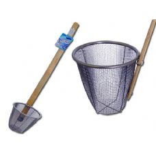 48 Units of STRAINER DEEP W/LONG WOODEN HANDLE - Strainers & Funnels