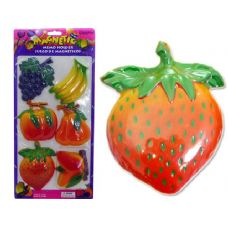 96 Units of MEMO JUMBO FRUIT 6PCS - Memo Holders and Magnets