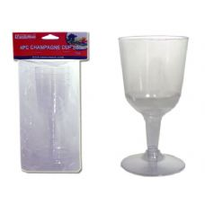 48 Units of PLS CHAMPAGNE CUP 4PC /SET - Plastic Drinkware