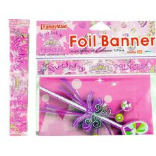288 Units of BANNER FOIL 12FT PRINCESS DESI - Party Banners