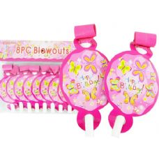 144 Units of BLOWOUT 8PC BUTTERFLY DESIGN - Party Favors