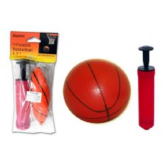 "144 Units of Inflatable 4.7""Dia Basketball + Ball Pump - Biking"