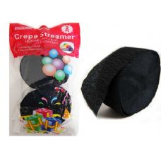 96 Units of STREAMER 2PC BLACK CLR 1.77*81FT PACKING 1/PC - Streamers/Confetti/Whirlers