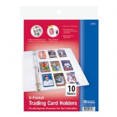 48 Units of BAZIC Top Loading 9-Pockets Sports Card Holder (10/Pack) - Folders and Report Covers