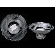 48 Units of crystal bowl w/stand - Glassware