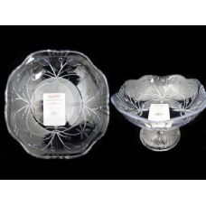 48 Units of CRYSTAL BOWL RD W/STAND - Glassware