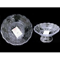48 Units of round crystal bowl w/stand - Glassware