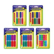 96 Units of BAZIC Assorted Color & Shape Pencil / Pen Grip (8/Pack) - Pencil Grippers / Toppers