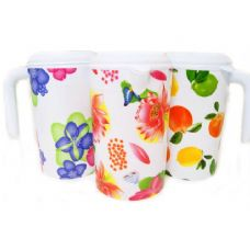 48 Units of WATER PITCHER 1000ML W/DOTS - Plastic Drinkware
