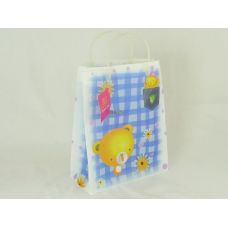 288 Units of GIFT BAG 26X32.5X12 W/PLSHANDLE - Gift Bags Baby