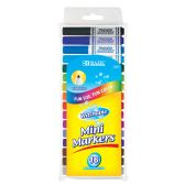72 Units of BAZIC 16 Color Broad Line Mini Washable Markers - Markers and Highlighters