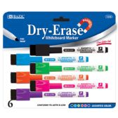 36 Units of BAZIC Bright Color Magnetic Dry-Erase Markers (6/Pack) - Markers and Highlighters