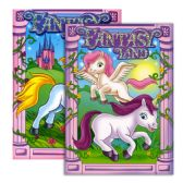 48 Units of FANTASY LAND FOIL & EMBOSSED Coloring & Activity Book