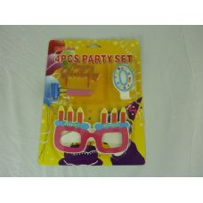 144 Units of BIRTHDAY SET 4PCS - Party Favors