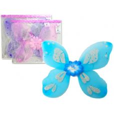 144 Units of BUTTERFLY WING 50X40CM W/DIA - Costumes & Accessories