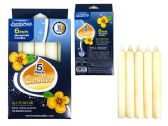 96 Units of CANDLE 5PC IN WINDOW BOX WT CL D.1.9CM XH.15CM - Candles & Accessories