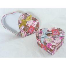 "48 Units of PAPER BOX HEART 7.48""X7.68""X2.VALANTINE DESIGN - Valentines"