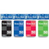 "72 Units of BAZIC 50 Ct. 4"" X 6"" Top Bound Spiral Memo Books (2/Pack) - Memo Holders and Magnets"