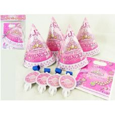 144 Units of PARTY SET 12PC PRINCESS DESIGN - Party Favors