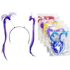 288 Units of Hair Band With Fake Hair - Costume Accessories