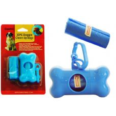 144 Units of DOG POOP BAG PC+CANISTER - Pet Collars and Leashes
